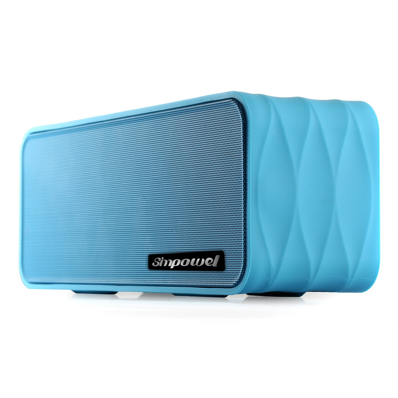 Wireless Speaker with FM by Simpowel   Portable Wireless Speaker System with Radio Micro SD Mp3 Player and NFC - Blue