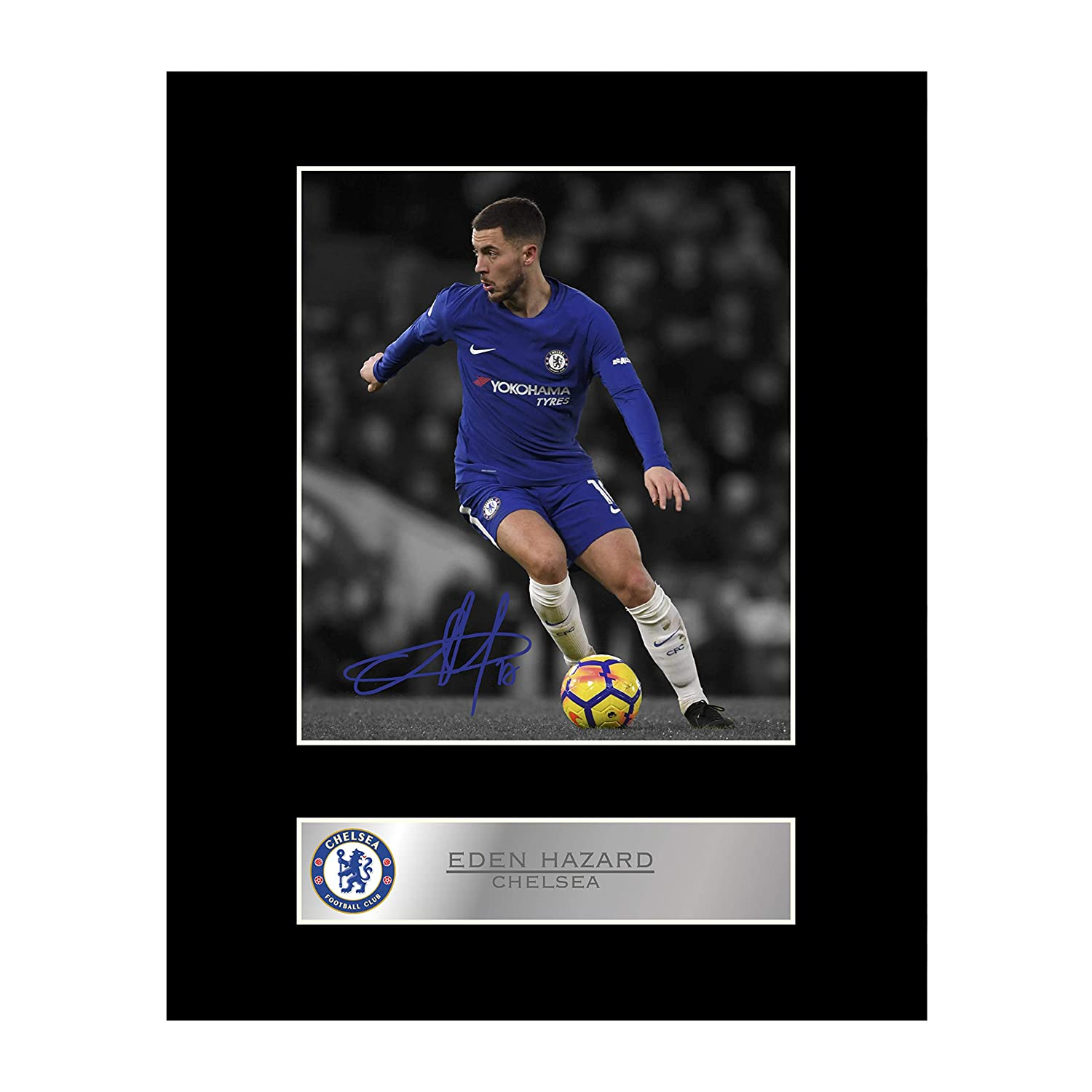 Eden Hazard Signed Mounted Photo Display Chelsea FC #1 Autographed Gift Picture Print Iconic pics