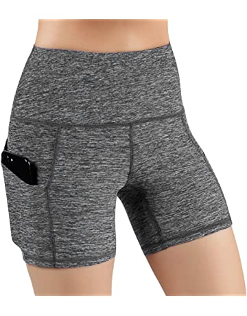 decc937616366 ODODOS High Waist Out Pocket Yoga Short Tummy Control Workout Running  Athletic Non See-Through