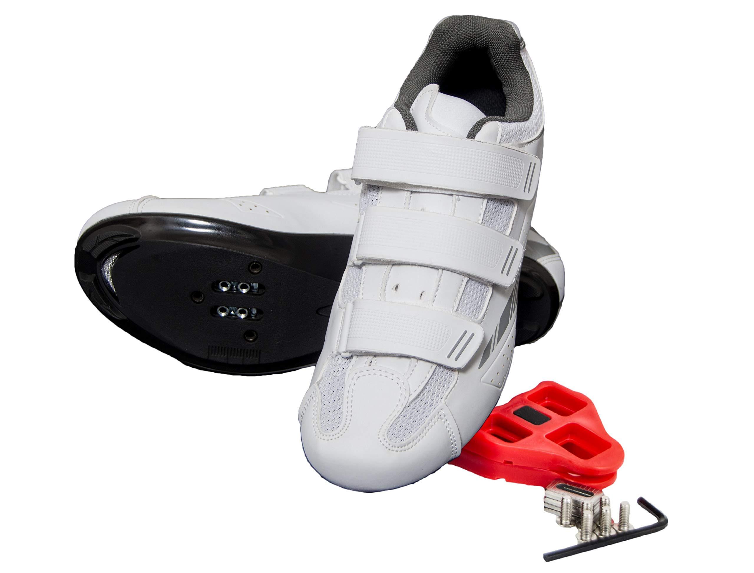 Tommaso Pista Women's Spin Class Ready Cycling Shoe - White/Silver - Look Delta - 37