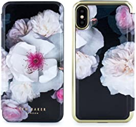 9180f23380e9c8 Official TED BAKER® NALIBISE Fashion Branded Mirror Folio Case for iPhone X    XS