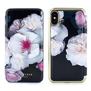 check out c578c bd387 Official TED BAKER® NALIBISE Fashion Branded Mirror Folio Case for iPhone X  / XS, High Quality Premium Protective Wallet for Professional Women – ...