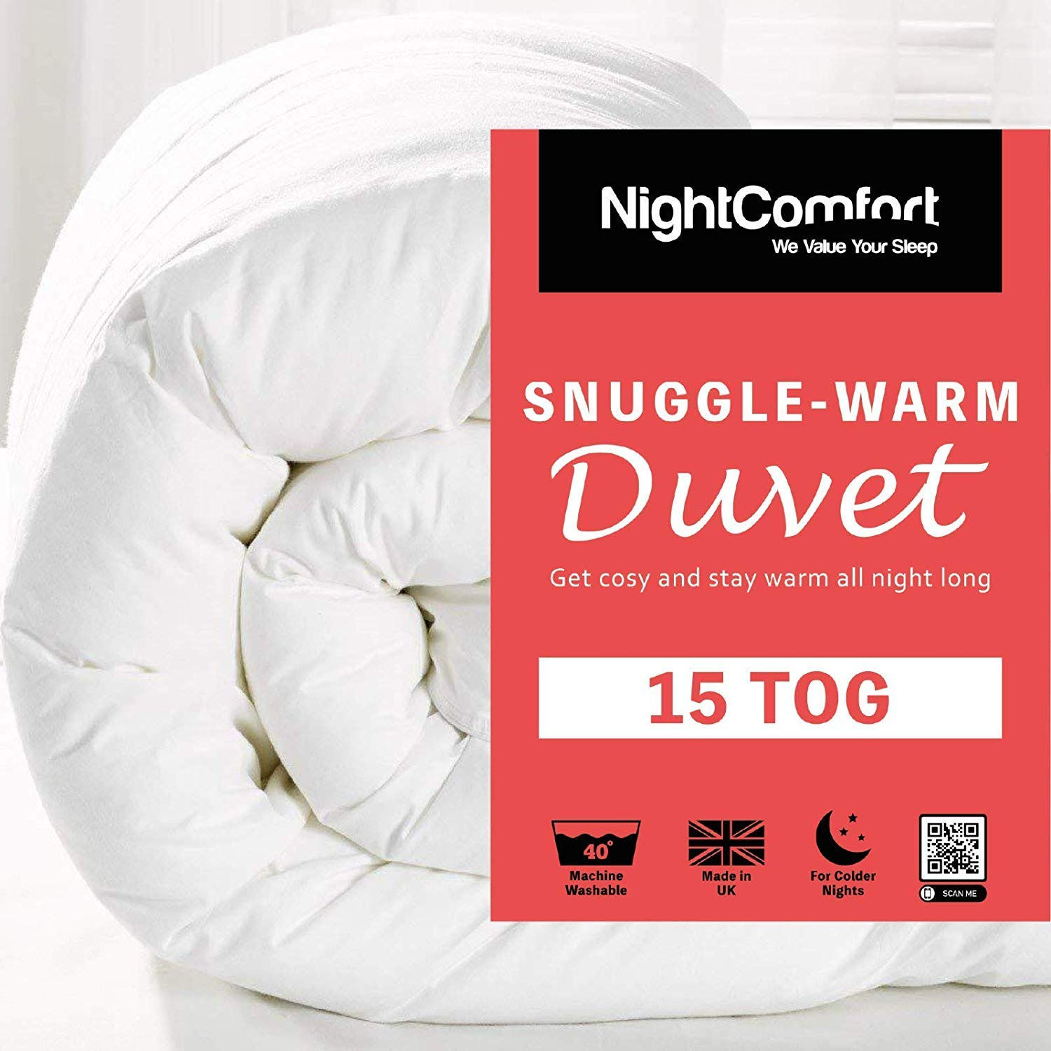 King Anti Allergy 13.5 Tog Duvet Quilt Hollowfibre Filled Corovin Thick Warm /& Cosy Made In UK