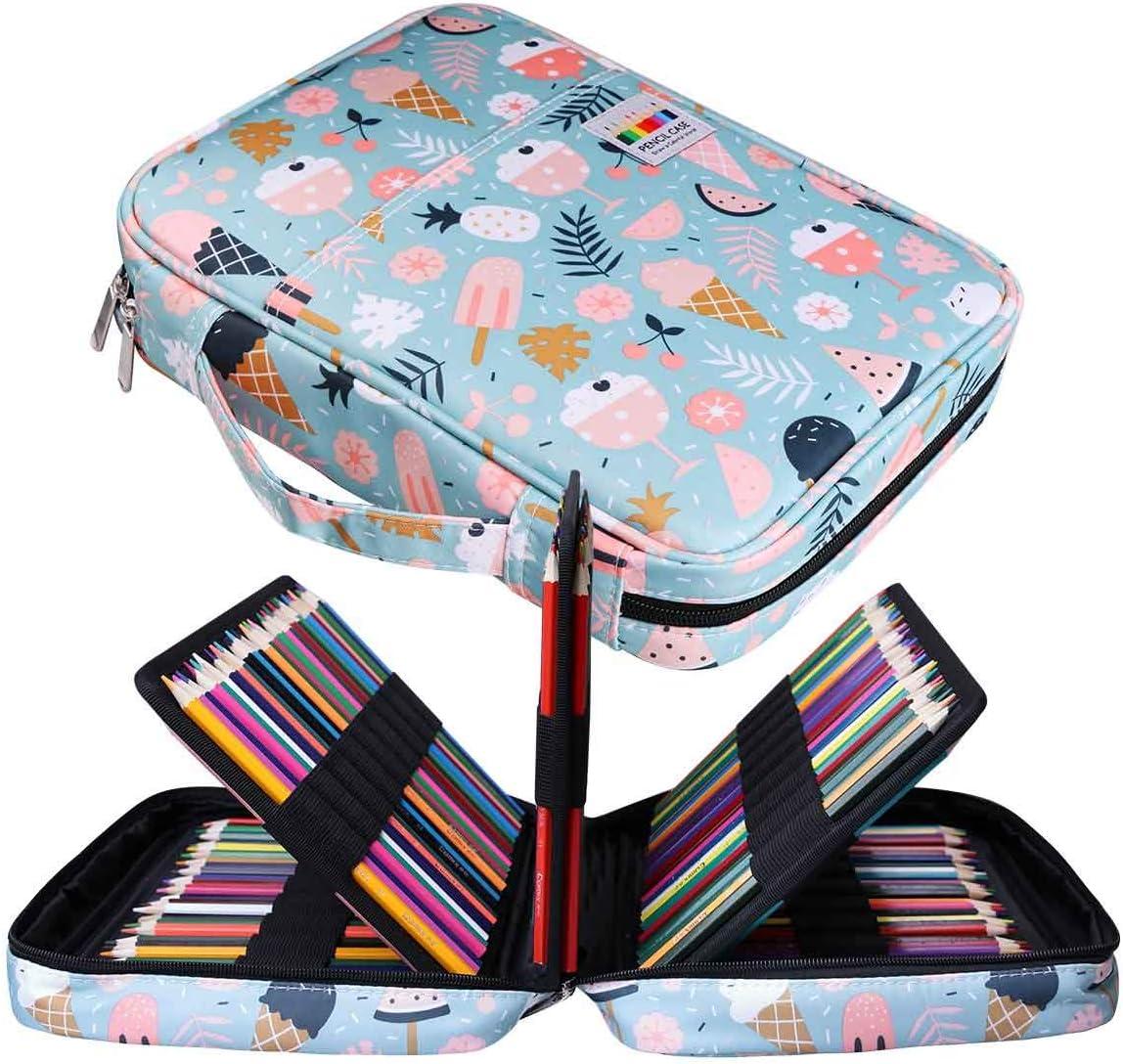 Jakago Estuche Para 220 Lápices de Colores Gran Capacidad Organizador de Bolígrafos Bolsa Impermeable Para Lápices de Acuarela y Marcadores y Bolígrafos de Gel Regalo Para Artistas Estudiantes