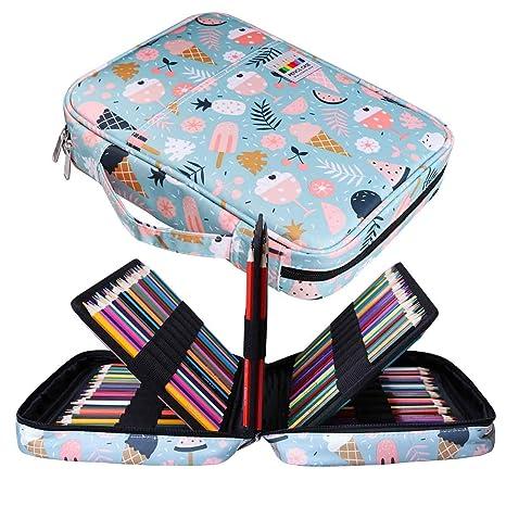Jakago Estuche Para 220 Lápices de Colores Gran Capacidad Organizador de Bolígrafos Bolsa Impermeable Para Lápices de Acuarela y Marcadores y ...