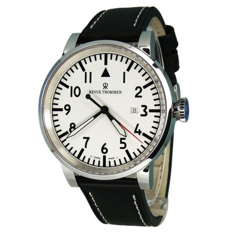 Revue Thommen 16053.2533 - Reloj analógico automático para Hombre con Correa de Piel, Color Negro