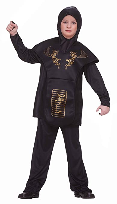 Forum Novelties Black Ninja Costume, Child Large