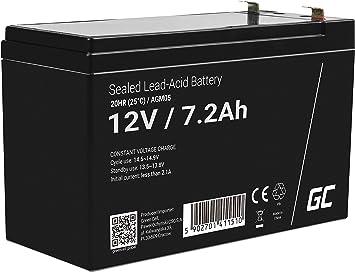 Green Cell Agm 12v 7 2ah Akku Vrla Blei Batterie Elektronik