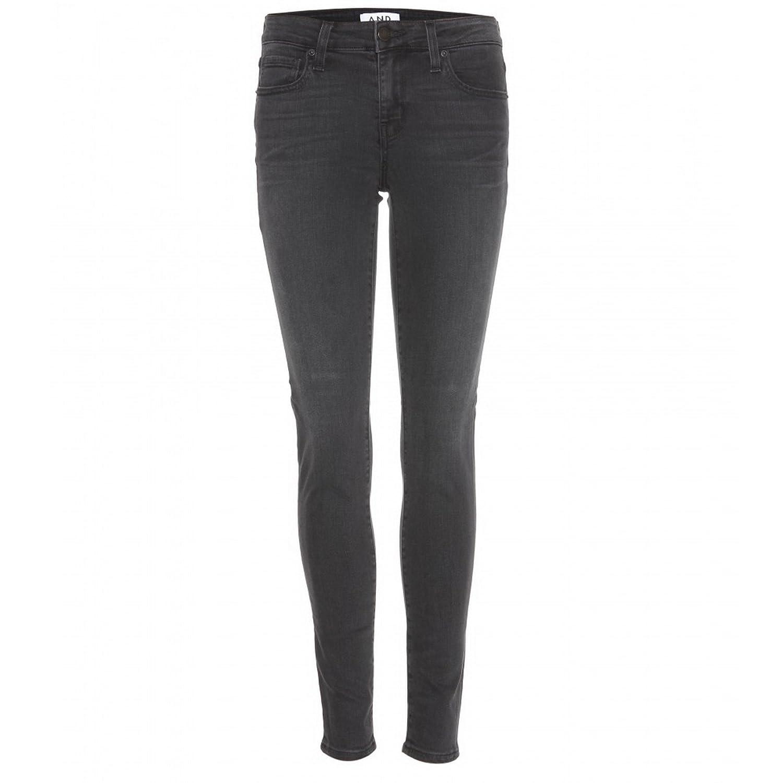 A.N.D. Womens Mid Rise Skinny Ankle Length Jeans Sz 25 Black/Noir 170470E