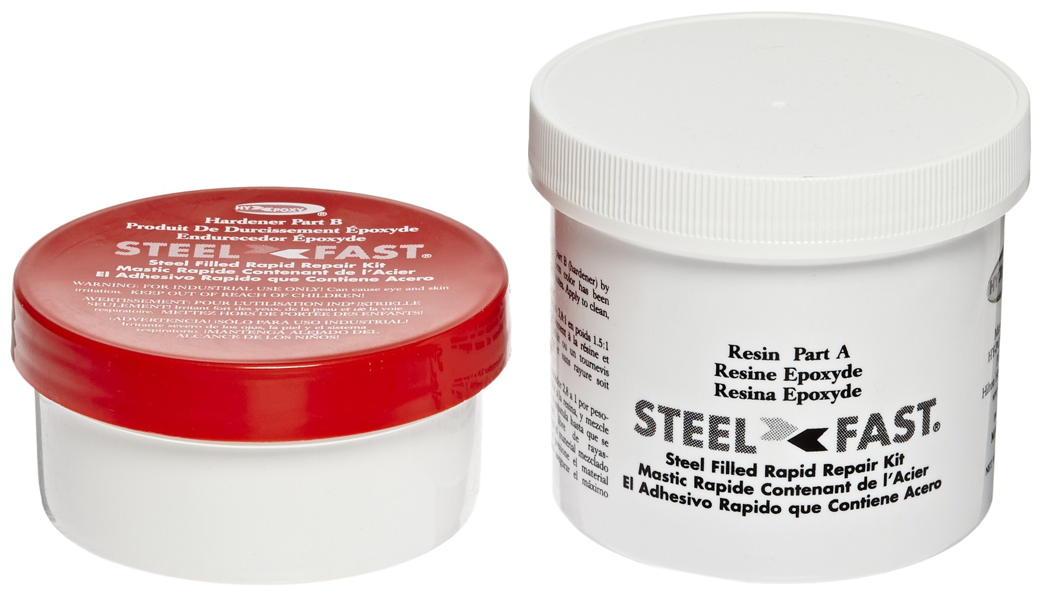Hy-Poxy H-120 Steelfast 1 lbs Rapid Cure Steel Filled Putty Repair Kit by HY-POXY