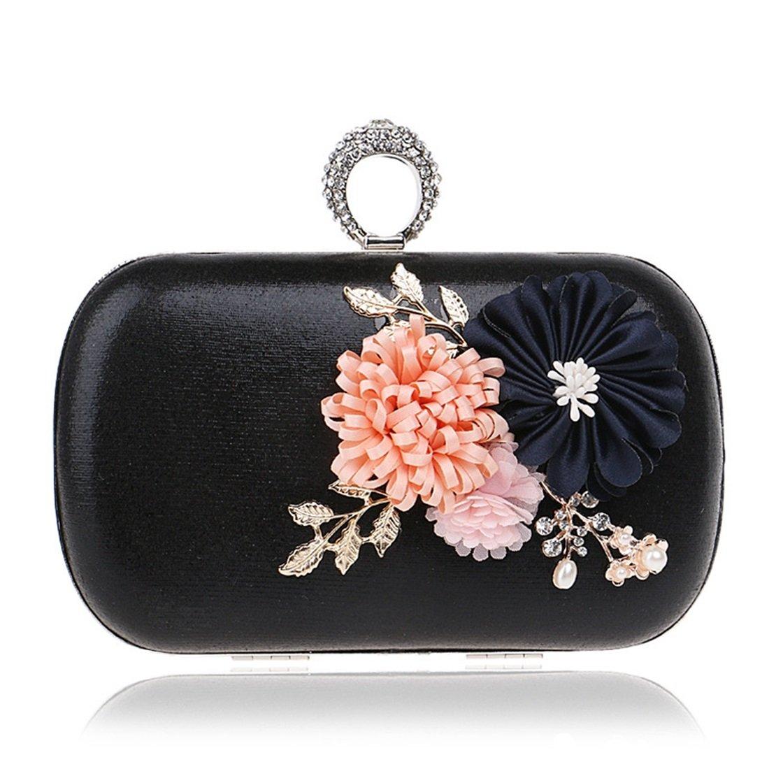 Lightlila Umhängetasche Umhängetasche Einfache Handgemachte Blaumen Clutch Abendtasche Handtasche Handtasche Handtasche (Farbe   schwarz) B07Q5V26Q5 Clutches Neuartiges Design df85ff
