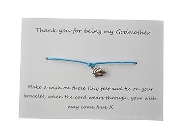 A Bit Krafty Friendship Wish Bracelet, Will You be my Godmother?