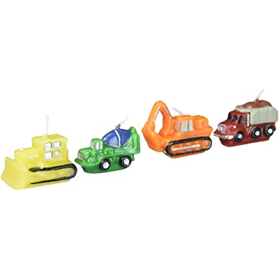 Construction Vehicles Birthday Candles by Wilton: Home & Kitchen