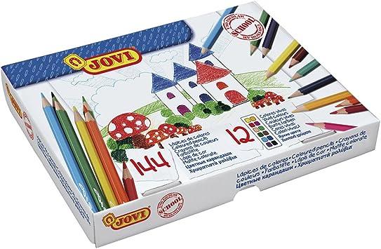 LAPICES de Colores Jovi Caja de 144: Amazon.es: Juguetes y juegos