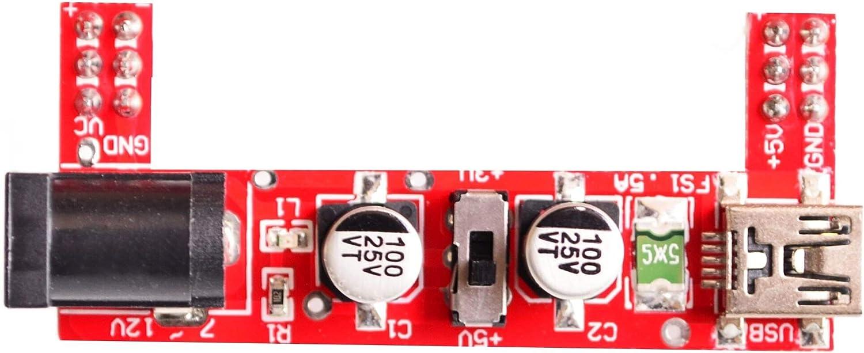 Mayata Breadboard Power Supply Module 2-Way 5V//3.3V