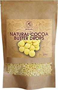 Cocoa Butter Drops 8.9oz - 250g - Theobroma Cacao Butter - Cocoa Butter Chips Food Grade - Cocoa Butter Drops - Gluten Free - Superfood Rich in Antioxidants - Minerals and Vitamins