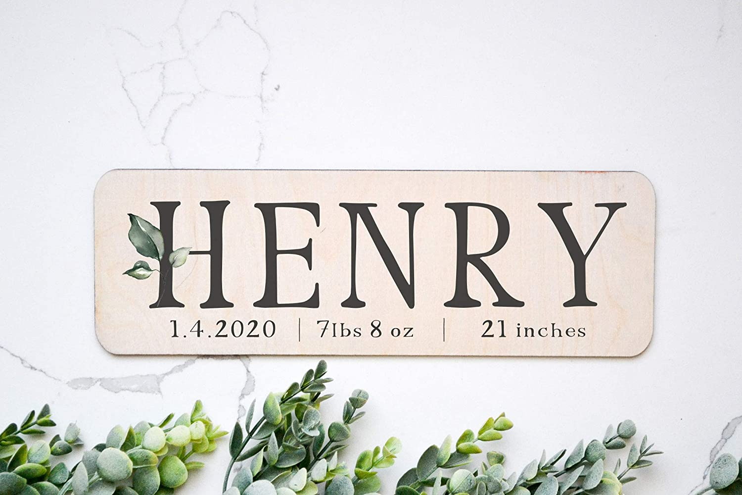 Baby Boy Name Reveal Nursery Sign Personalized Baby Name Announcement Baby Name Announcement Photo Prop Engraved Birth Announcement