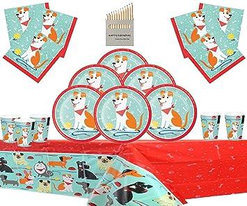 Dog Party Supplies Artículos para la Fiesta del Perro Kit de ...