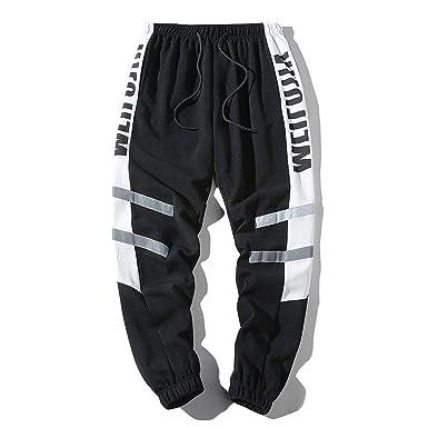 Lu Studio - Pantalones de Deporte para Hombre, diseño de Patchwork ...