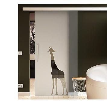 Porta scorrevole vetro 775 X 2050 mm di Giraffe Design ...