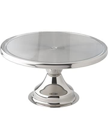 Winco CKS 13 Stainless Steel Round Cake Stand Inch