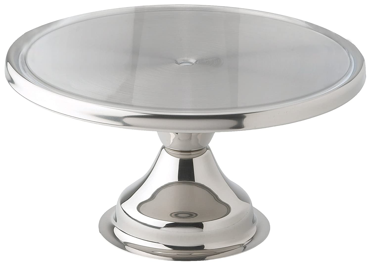 Winco CKS-13 Stainless Steel Round Cake Stand, 13-Inch Winco USA