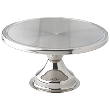 Winco CKS-13 Stainless Steel Round Cake Stand, 13-Inch
