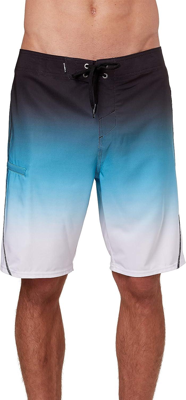 20 Inch Outseam ONEILL Mens Water Resistant Hyperfreak Stretch Swim Boardshort Mid-Length Swimsuit