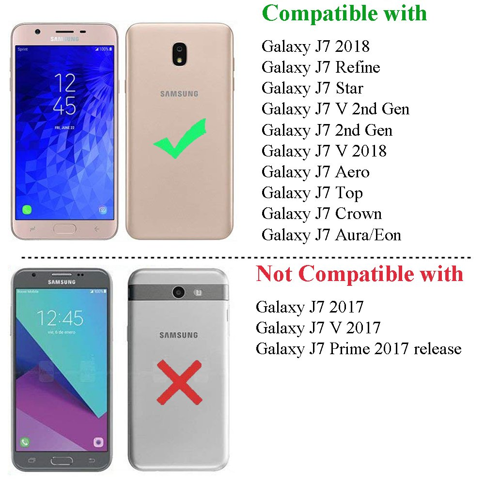 Galaxy J7 Star Case,J7 Crown Case,Galaxy J7 Refine Case,Galaxy J7 V 2nd Gen Case,J7 Aura Case,Asmart Shockproof TPU Bumper Slim Cover Flexible ...