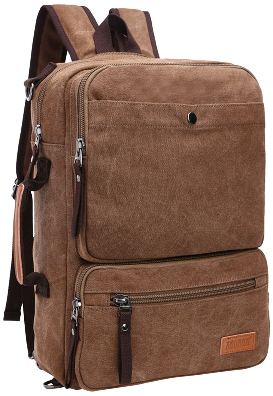 durable service M.G. mu8178 Canvas Backpack, Coffee