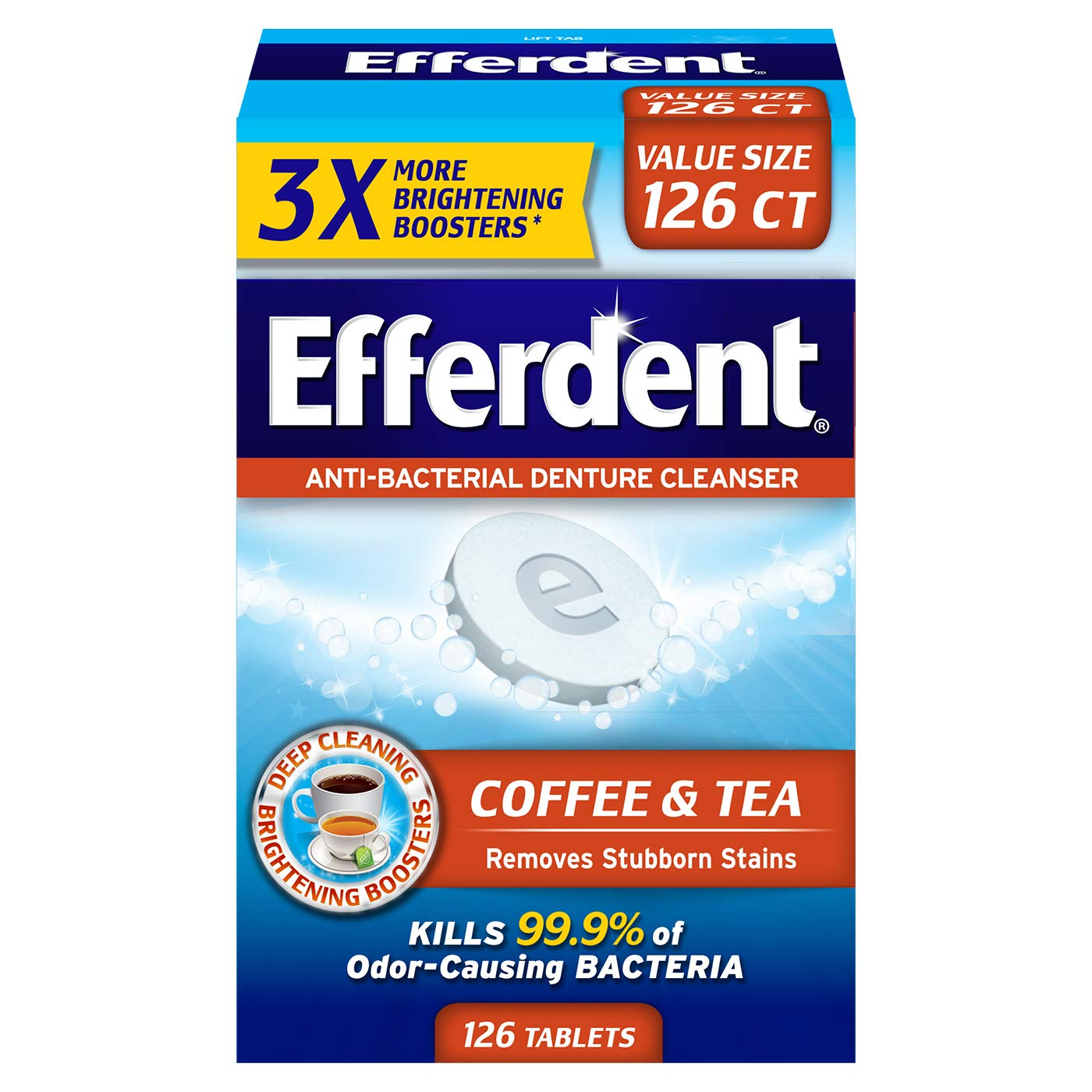 Efferdent Coffee & Tea Denture Cleanser | 126