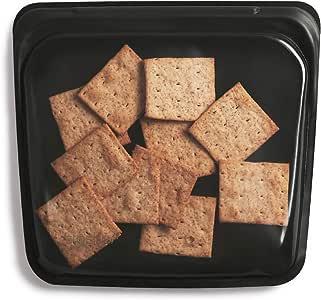 Stasher Food Bag, Obsidian, Sandwich Storage Size, 450 ml