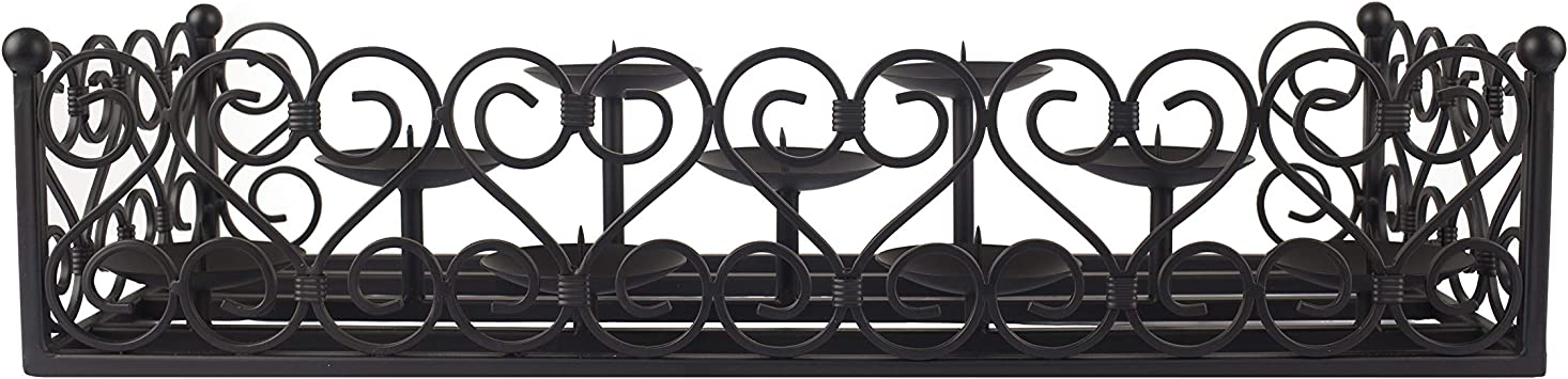 FA302C Pleasant Hearth Lanister Fireplace Candelabra Black GHP Group Inc