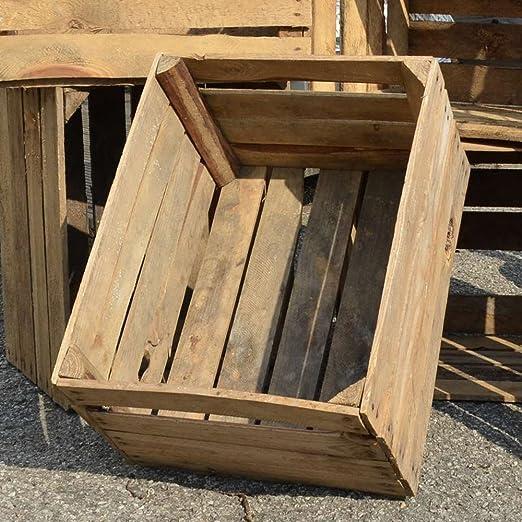 3 x Cajas Viejo rústico manzana caja caja de madera cajón ...