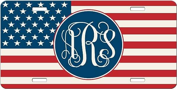 Signs 4 Fun Tactical US American Flag Metal License Plate