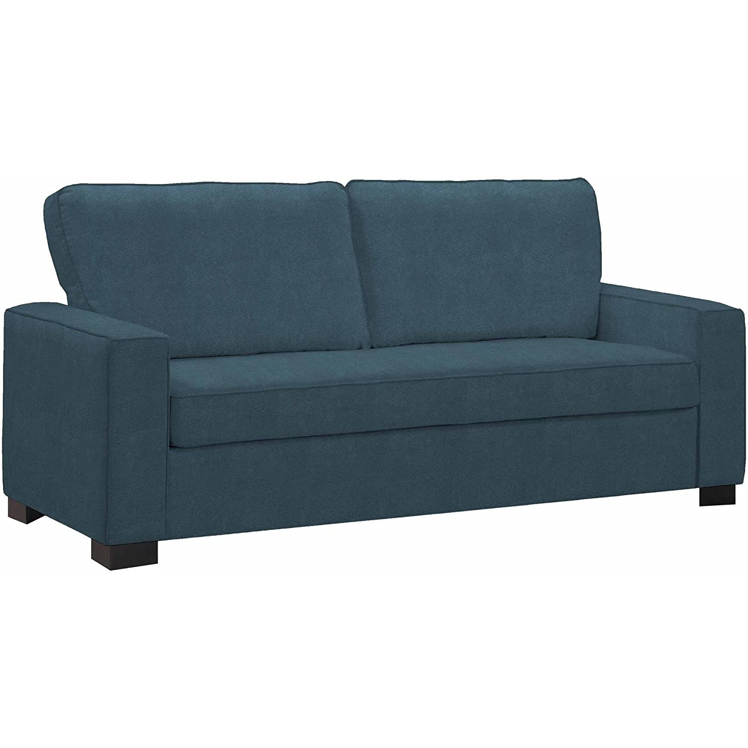 Amazon.com: Compact Blue Microfiber Sofa, Pocketed Coils, Living ...