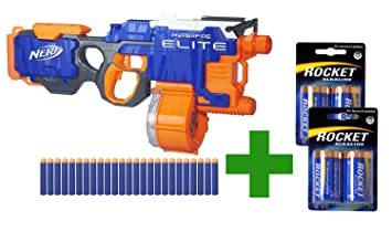 Image is loading 2-SET-Elite-Nerf-Strike-N-Hyperfire-Blaster-