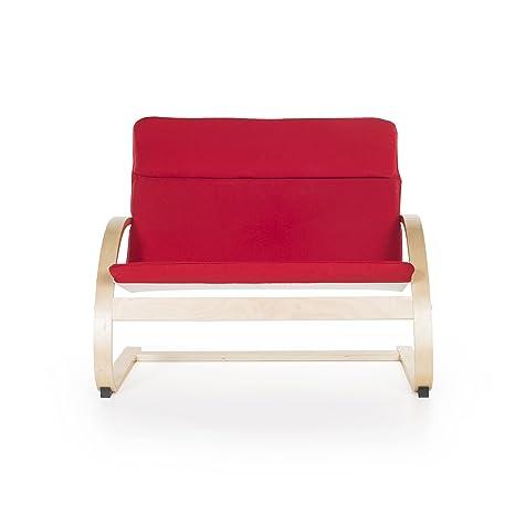 Amazon.com: Nordic Couch, Silla novedosa, talla única , Rojo ...
