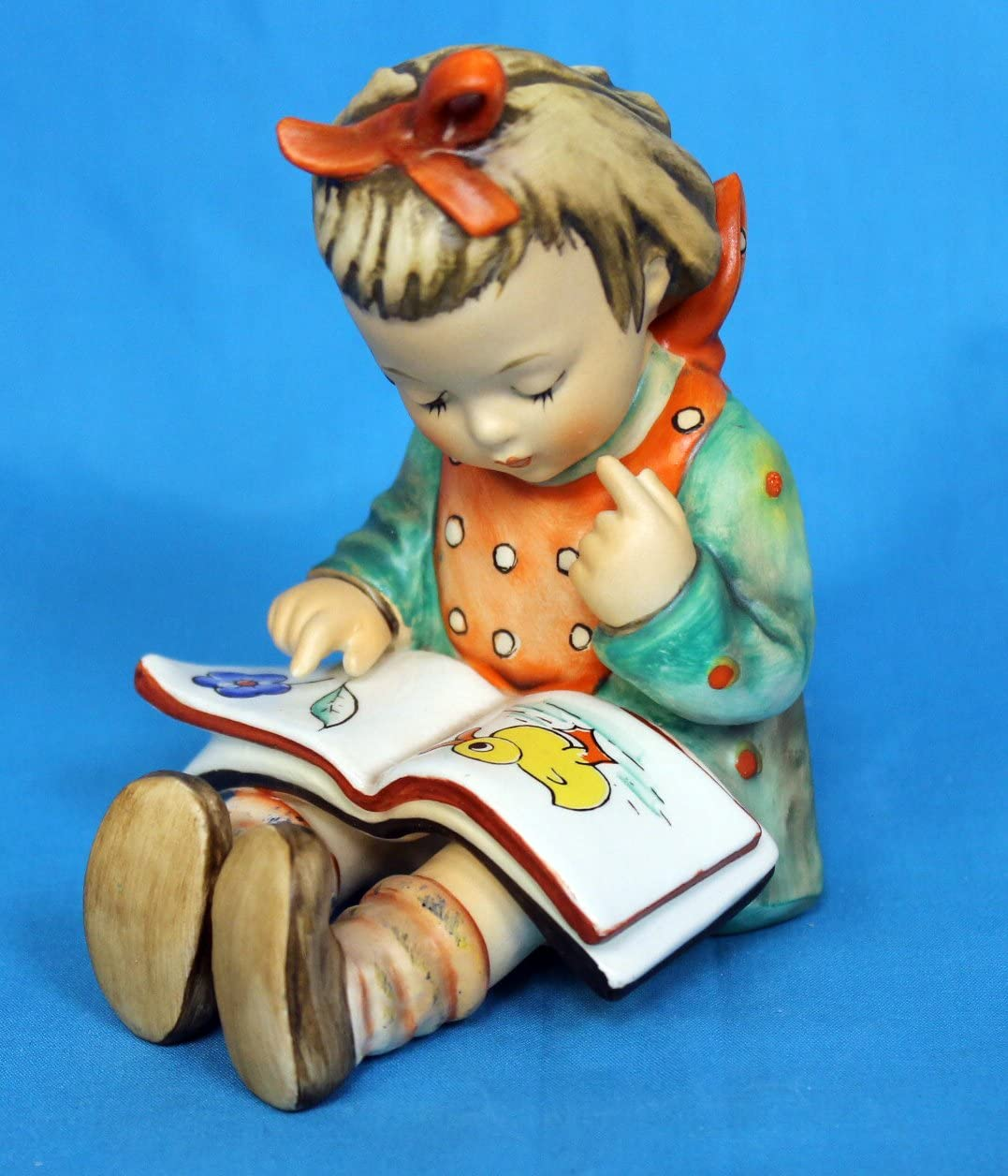 Hummel c1972 HUM8 Book Worm Girl with Book Figurine Reinold Unger – NEGR39