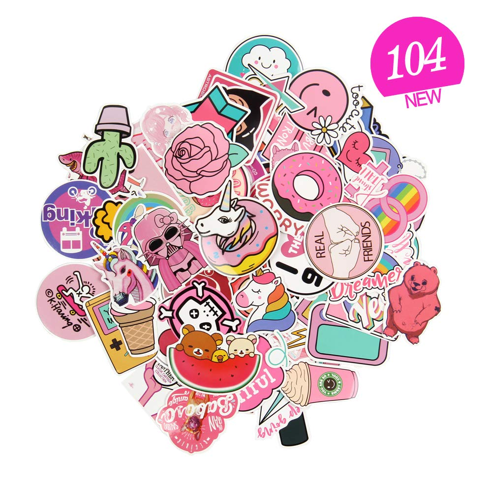 Sticker decals pink sticker pack vinyl stickers laptop sticker for motorcycle bicycle luggage phone mac computer diy keyboard car window water bottle