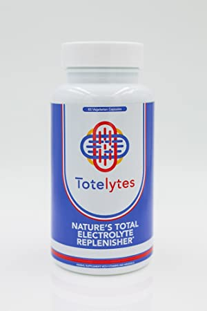 Totelytes- Electrolyte vegetarian capsules for active rehydration and muscle cramp relief,- Sodium, Potassium, Organic Avocado, pomegranate,60 servings **FEATURED IN WHOLE FOODS MAGAZINE**