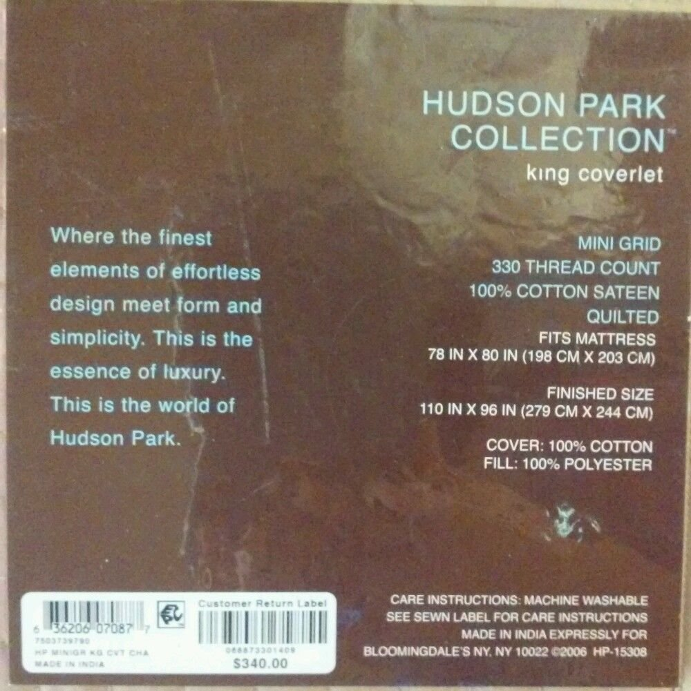 HUDSON PARK COLLECTION KING COVERLET
