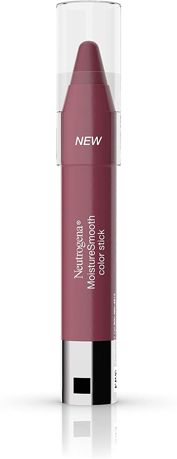 Neutrogena MoistureSmooth Color Stick, Soft Raspberry - Pack of 2