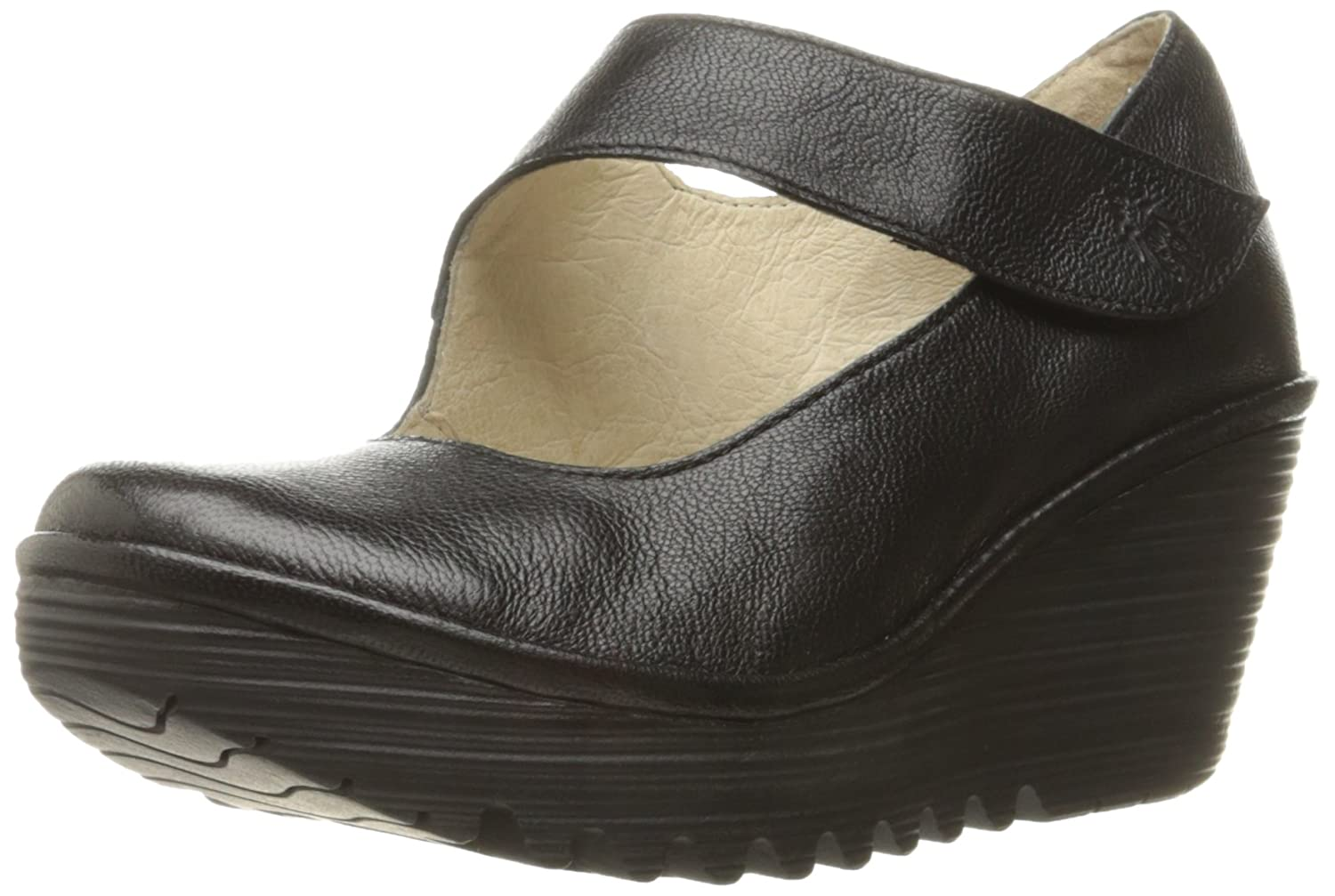 FLY London Women's Yasi682fly Wedge Pump B01HCC3UXM 39 M EU (8-8.5 US)|Black Mousse