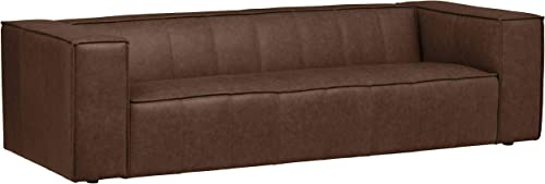 Amazon Brand Rivet Thomas Genuine Leather Modern Sofa Couch - the best living room sofa for the money