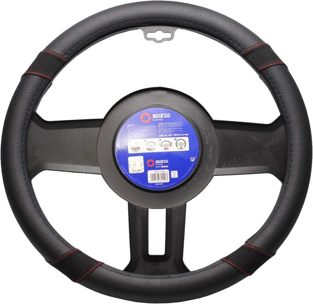 Black Steering Wheel Cover in Imitation Suede