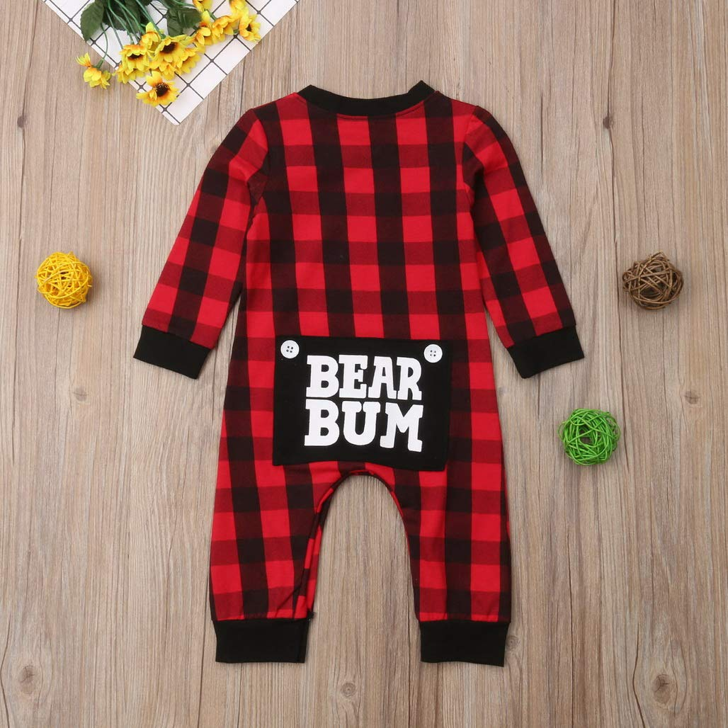 Soft Christmas Toddler Baby Boys Girls Clothing Romper 0-24M Long Sleeve Cotton Warm Jumpsuit Outfit Clothes