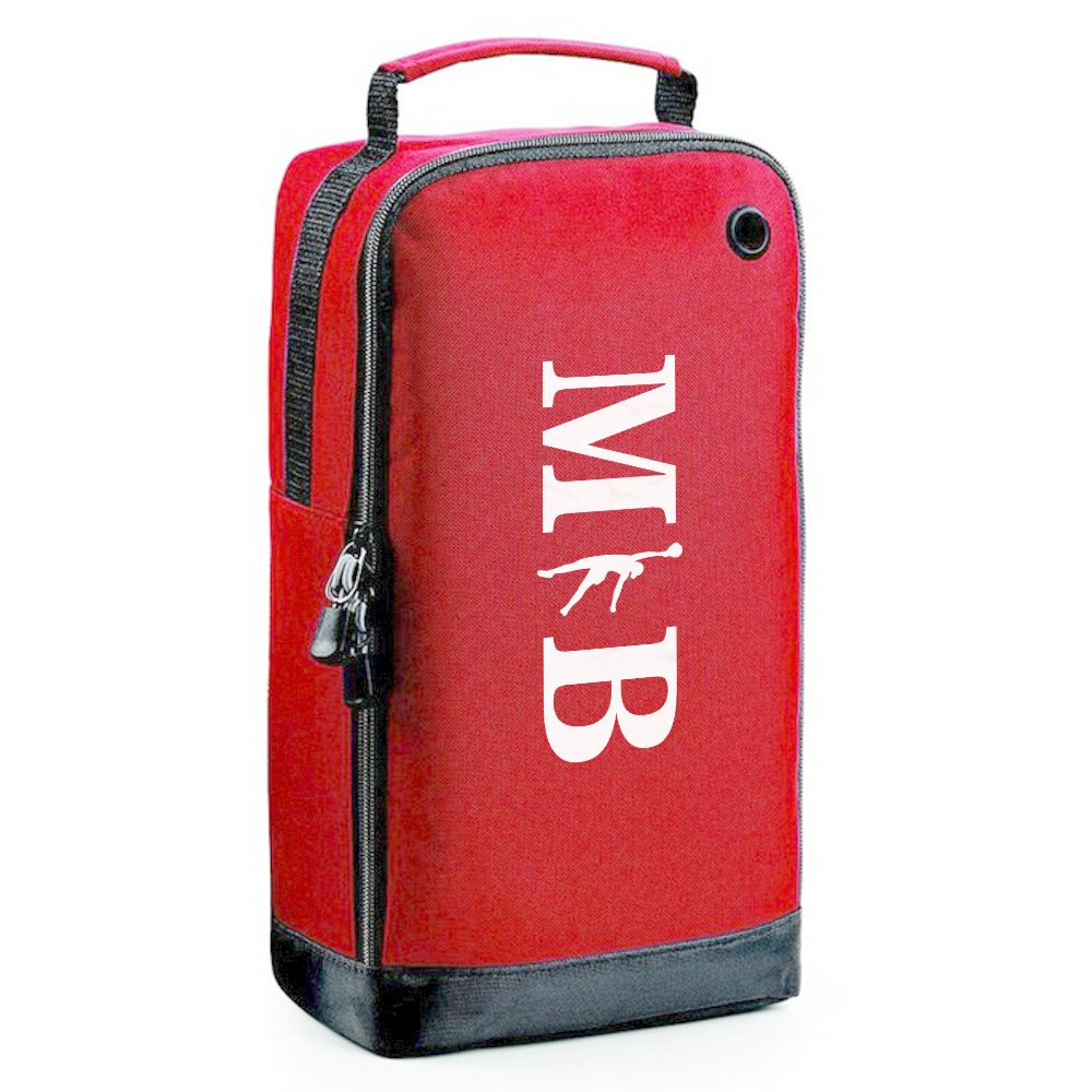iClobber Netball Accessory Shoe Bag Personalised With Your Initials- Black
