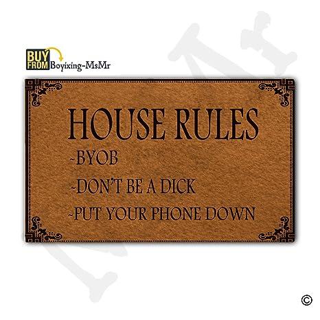 Gentil MsMr Doormat Entrance Mat   Funny Doormat   House Rules Indoor Outdoor  Decoration Door Mat 18x30