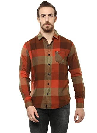 cc835689512 Mufti Mens Slim Fit Casual Shirt  Amazon.in  Clothing   Accessories